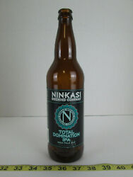 Ninkasi Brewing Co Total Domination Ipa Beer Glass Bottle 1 Pint 6 Oz Collectors