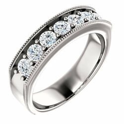 G-h Si2-si3 Diamond Menand039s Wedding Band In 14k White Gold 1.00 Ct. Tw.