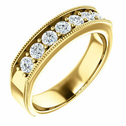 G-h Si2-si3 Diamond Menand039s Wedding Band In 14k Yellow Gold 7/8 Ct. Tw.