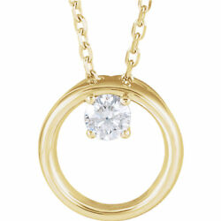 Diamond Circle Necklace In 14k Yellow Gold 1/10 Ct. Tw.