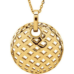 Pierced-styled 18 Necklace In 14k Yellow Gold