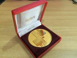Rare Ikom Zagreb Tennis Ping Pong Gold Medal Price 1 Cl Badge Olympic Trophy