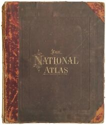 1886 Grayand039s National Atlas Large 18x15 Antique Rare Stedman And Brown