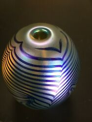 Art Glass Oil Lamp❣️eickholt ❣️pulled Feather / Signed 1988 Paperweight