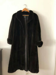 Womens blackglama mink fur coat by Winters Furs. Size range is 8-12