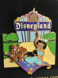 Rare Disneyland Resort Auctions Pin Le1000 Le P.i.n.s. Marquee Jasmine L8