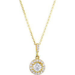 Diamond Halo-style 18 Necklace In 14k Yellow Gold 1.00 Ct. Tw.