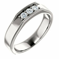 G-h Si2-si3 Diamond Menand039s Wedding Band In Platinum 1/4 Ct. Tw.