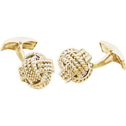 Knot Cuff Links In 14k Yellow Gold