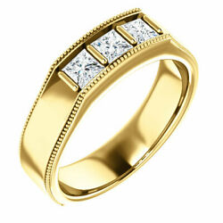 G-h Si2-si3 Diamond Menand039s Wedding Band In 14k Yellow Gold 3/4 Ct. Tw.