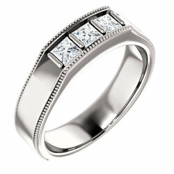 G-h Si2-si3 Diamond Menand039s Wedding Band In Platinum 5/8 Ct. Tw.