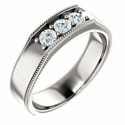 G-h Si2-si3 Diamond Menand039s Wedding Band In Platinum 1/2 Ct. Tw.