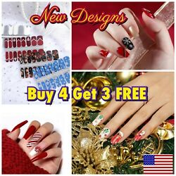 Color Nail Polish Strips Buy 4 Get 3 FREE Exclusive Glitters Autumn Fall Ombre