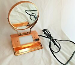 Beck Electric Portable Lamp Shaving Station Vintage Vanity Mirrors Makeup
