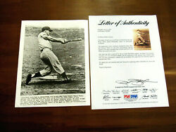 Roger Maris 1961 Wsc New York Yankees Signed Auto 8 X 10 Wire Photo Psa/dna Loa