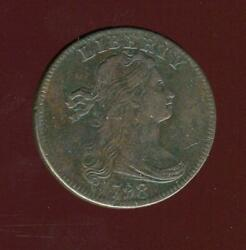 1798 Draped Bust Large Cent   8 Over 7 Overdate   Very Fine   Cp2746