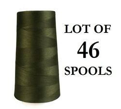 Lot Of 46 Spools, Aande Stitch Sewing Thread, Polyester Heavy Weight Tex 80