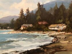 West Vancouver Seascape By Canadian George Bates Oil Painting On Canvas