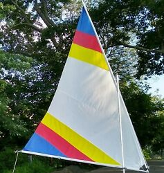 Sunflower Sail - First Quality - Multi Color With White. 55 Sf Size