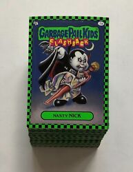 2010 Garbage Pail Kids Flashback Series 1 Green Parallel Cards - Pick Your Own