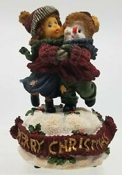 Vanmark Sweet Cakes Music Box Figurines Frosty The Snowman Merry Christmas
