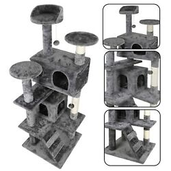 53quot; Cat Tree Tower Activity Center Large Playing House Condo For Rest Sturdy