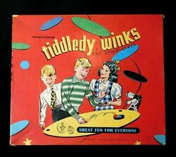 Vntg Tiddledy Winks Board Game Transogram Gold Medal Toys And Games 1063 Orig Box