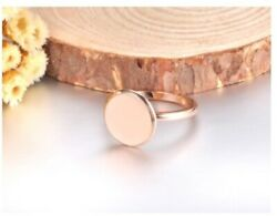 Ring Solid Gold Ring Simple Ladies Coin Design Sm28
