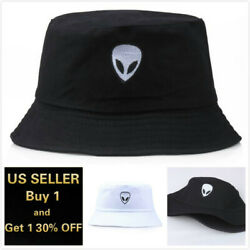 Alien Bucket Hat Cap Cotton Fishing Boonie Brim visor Sun Safari Summer Camping $8.99