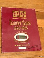 Boston Garden Banner Years Ltd Edition 1928-95 History With Bobby Orr Signature