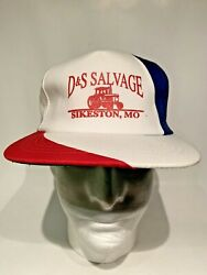 D And S Salvage Red White Blue Snapback Farm Tractor Trucker Hat Sikeston Mo.