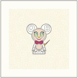 Takashi Murakami Dob 2020 Pearl Gold White Signed 100 Limited Edition From Japan