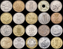 Pre-euro European Coins - All Only 99p - Buy 4 Get 1 Free - Circulated Condition