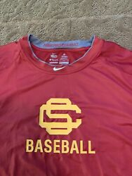 Usc Trojans Nike Baseball Team Issued Shirt Xl Pro Combat Fitted Compression