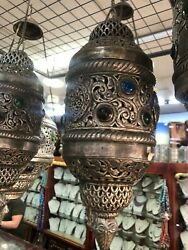 Lantern Islamic Arabic Antique Ottoman Middle East Hanging Lamp Candle