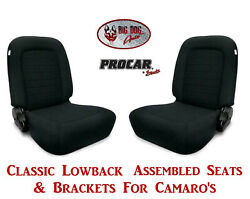 Scat Classic Series 80-1550-61 Seats And Brackets Set For 1967-2002 Chevy Camaro