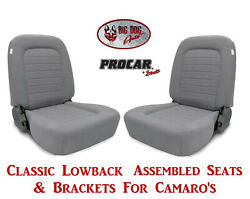 Scat Classic Series 80-1550-62 Seats And Brackets Set For 1967-2002 Chevy Camaro