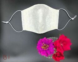 New Handmade Adult Cloth Face Covering Mask Nose Wire Filter Pocket 100 Cotton