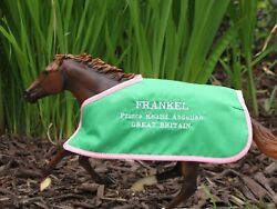 FRANKEL TB custom embroidered blanket fits Breyer thoroughbred race horse