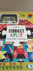 Hallmark Connect And Play Our Town - Letand039s Go Shopping Puzzle Playset - New