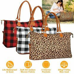 Women Travel Duffle Bag Luggage Tote Bags Weekend Overnight Shoulder Handle Bag $20.02
