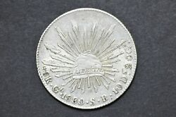 Mexico - Republic 1880 Go Sb 8 Reales Silver Coin Weight 27.02 G C297