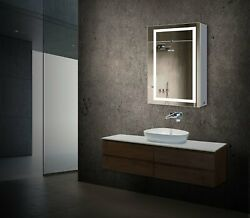 Led Light Bathroom Mirror Cabinet Double Sided Mirror On/off Switch Hector Style