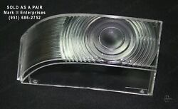 1954 Lincoln Park Light Lamp Lenses Left And Right Nos Quality