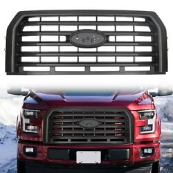 For 2015-2017 Ford F150 Black Horizontal Front Bumper Grill Grille Abs