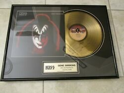 KISS SIGNED GOLD RECORD - SOLO ALBUM - FREHLEY- CRISS- SIMMONS- STANLEY- RARE
