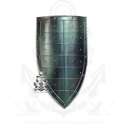 Collectible Hand Forged Steel Layered Medieval Shield SCA Battle Armor Shield