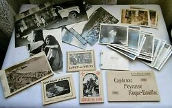 Vintage France 60's Lot Of Travel Photos Postcards Asian Pictures French Cities