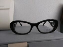 Prada VPR 09P Baroque Style Black Women's Authentic Eyeglasses Frame 52-19 RARE