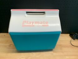 Vintage 1992 Playmate by Igloo Cooler Teal and Pink $71.99
